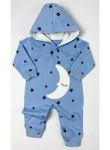 Riccotarz Erkek Bebek Ay Yıldızlı Mavi Tulum Mavi